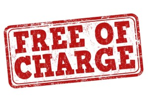services - free of charge sign