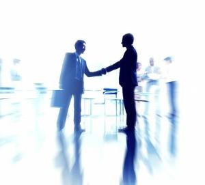 services - men shaking hands