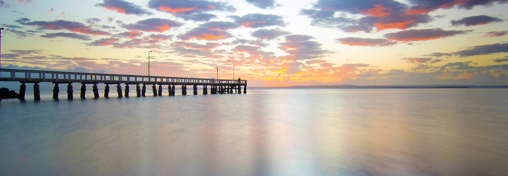 Wellington Point Pier at sunrise