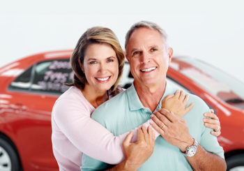Happy car buyers