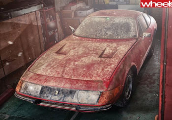 Ferrari Daytona found in shed
