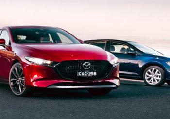 Mazda 3 G25 and Volkswagen Golf