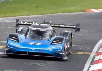 VW all-electric race car tames Nurburgring