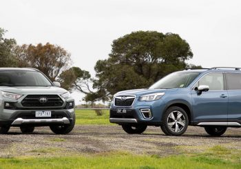 Rav 4 v Subaru Forester shoot out